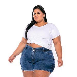 Short Jeans Stretch Lavagem Sky  Feminino Plus Size 44 ao 60 3223