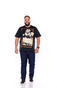 Camiseta Masculina Estampada Onnox Surf Plus Size Preta Xp Ao G5