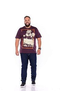 Camiseta Masculina Estampada Onnox Surf Plus Size Roxa Xp Ao G5