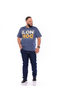 Camiseta Masculina Estampada London Plus Size Azul Xp Ao G5