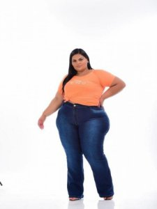 Calça Jeans Feminina Flare Plus Size 44 ao 62 3141