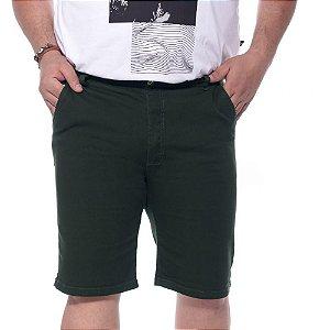 Bermuda Sarja com Elastano Verde Plus Size 50 ao 64 2019