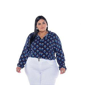 Camisa Feminina Viscose Estampada Triângulo Plus Size XP ao G5