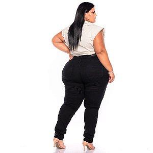 Calça Jeans Feminina Stretch PRETA Plus Size 62 ao 70 1574