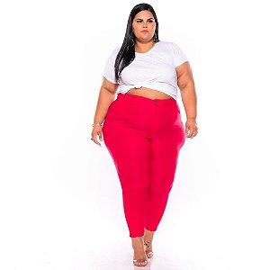 Calça Bengaline Vermelha Bastante Elastano 44 ao 60 3233