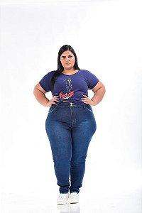 Calça Jeans Stretch Used Feminina Plus Size 3149