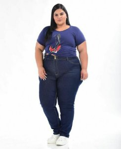 Calça Jeans Stretch  Feminina Plus Size 3151