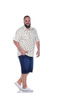 Bermuda Jeans Stretch Masculina Plus Size 2056