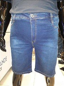 Bermuda de Sarja Stretch com Puído Masculina Plus Size 2037