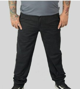 Calça Sarja Stretch Masculina Plus Size Preta 2018