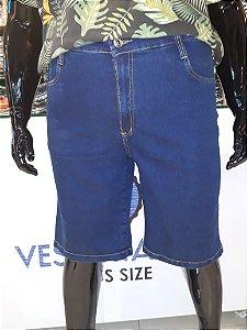 Bermuda Masculina Básica Jeans Stretch Plus Size 2036