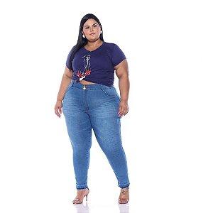 Calça Cropped Jeans Stretch Feminina Plus Size   3181