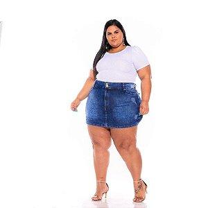 Short Saia Jeans Stretch Sky Puido Plus Size 44 ao 70 308601