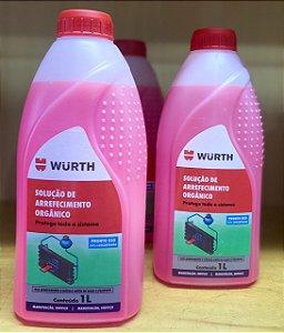 Aditivo Para Radiador Wurth Concentrado Rosa 1Lt