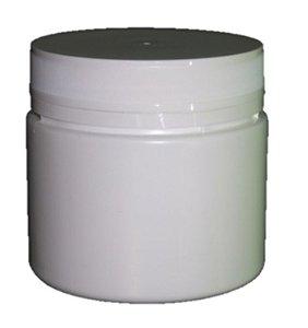 Pote Plástico 500 ml Branco Rosca Lacre kit com 10 unid