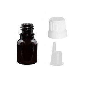 Frasco de plástico PET âmbar gotejador 10 ml kit com 10 unid