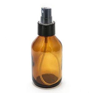 Frasco de Vidro Âmbar de 60 ml com Válvula Spray 10 unid