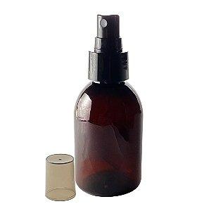 Frasco Âmbar Plástico Spray de 100 ml kit com 10 unid