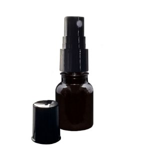 Frasco Âmbar Plástico Spray de 10 ml kit com 10 unid