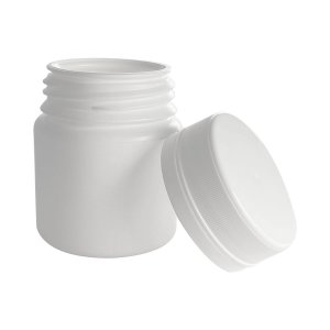 Pote Plástico para cápsula 50 ml Rosca Lacre kit 10 unid