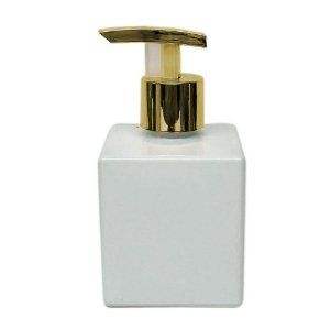 Vidro para Sabonete Líquido 200 ml Cubo Branco Super Luxo
