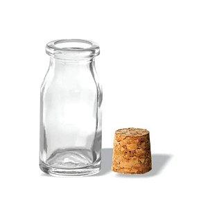 Vidro para Sais de Banho com Rolha 10 ml kit com 10 unid