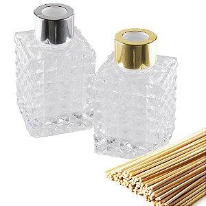 Vidro para Aromatizador 70 ml Diamante Luxo