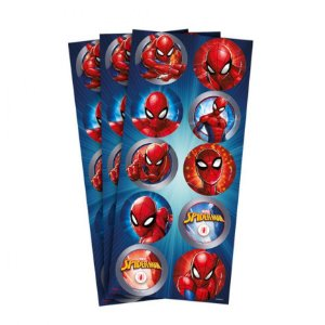 Adesivo para Lembrancinhas Festa Homem Aranha kit 3 cartelas