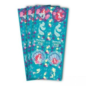 Adesivo para Lembrancinhas Festa Pequena Sereia kit 3 cartelas