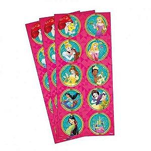 Adesivo para Lembrancinhas Princesas da Disney 3 Cartelas.