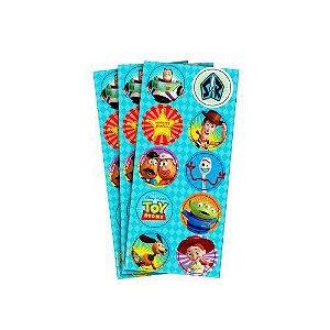 Adesivo para Lembrancinhas Toy Story pct c/ 3 Cartelas.