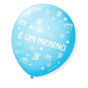 Balão Bexiga Decorada É um Menino pct com 25 unid