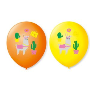 Balão Bexiga Decorada Lhama N9 pct com 25 unid