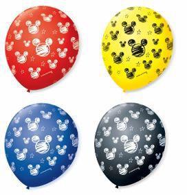 Balão Bexiga Decorada Orelha de Rato N 9 pct com 25 unid
