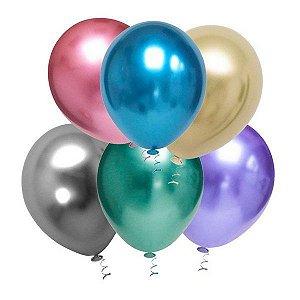 Balão Bexiga Metálicos N9 pct com 25 unid