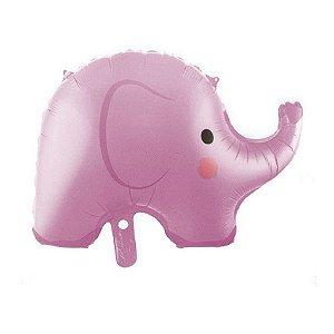 Balão metalizado Elefante Rosa