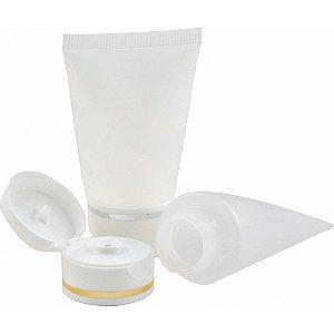 Bisnaga para Hidratante de 60 ml Flip Top Luxo kit com 10 unid