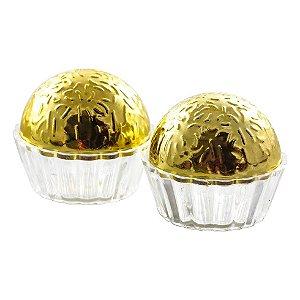 Caixinha Acrílica de Brigadeiro Dourada kit com 12
