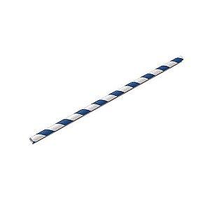 Canudo de Papel Azul Pacote com 100 unid