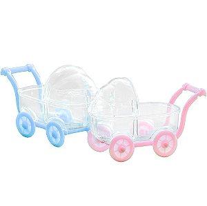 Carrinho de bebê acrílico para Lembrancinhas kit com 12 unid
