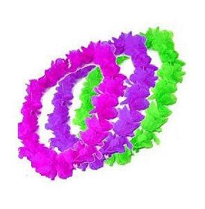Colar Havaiano de Tecido cores Neon