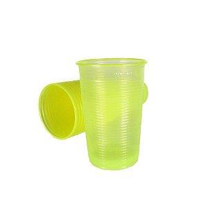 Copo Descartável Amarelo Neon 300 ml pacote com 20 unid
