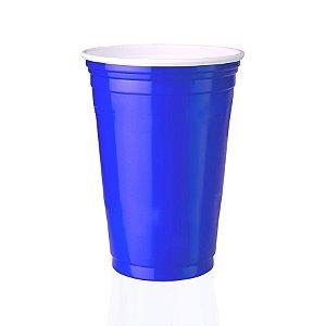 Copo Descartável de plástico Estilo Festa Americana Azul pct com 25 unid