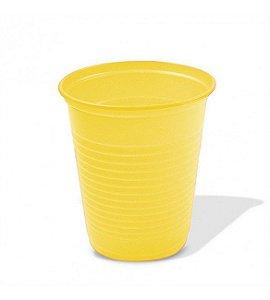 Copo Descartável Simples de 200 ml Amarelo pacote com 50 unid.