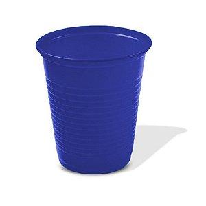 Copo Descartável Simples de 200 ml Azul Escuro pacote com 50 unid.