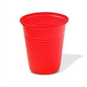 Copo Descartável Simples de 200 ml Vermelho pacote com 50 unid.