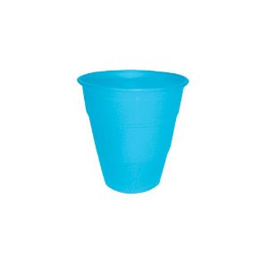Copo Plástico Resistente de 210 ml Azul Bebê kit com 10 unid