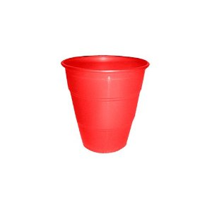 Copo Plástico Resistente de 210 ml Vermelho kit com 10 unid