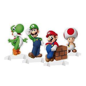 Decoração de Mesa de Festa tema Super Mario kit com 4 unid