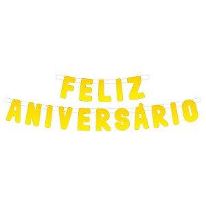 Faixa de Feliz Aniversário Amarela